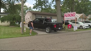 Cashing in on parking cars for Pro Football Hall of Fame festivities in Canton