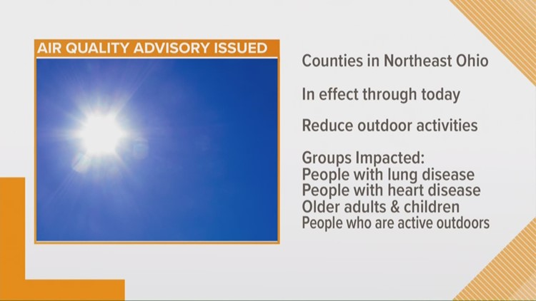 Air quality advisory issued for Northeast Ohio as temperatures climb