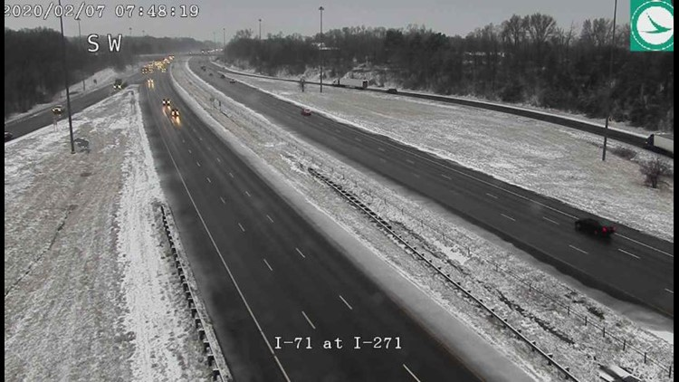 Winter road conditions 71 at 271 February 7, 2020