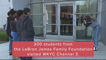 200 Sixth Graders from LeBron James Family Foundation in Akron visit WKYC