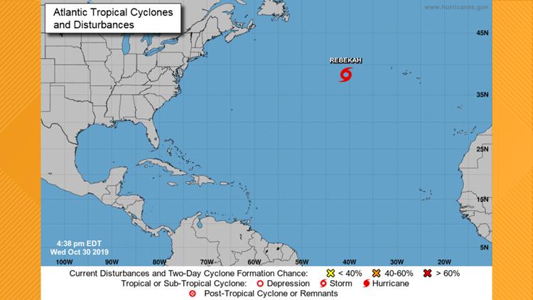 Subtropical Storm Rebekah