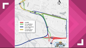 I-490 to close in Cleveland for two-year construction project: See the detours