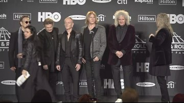Def Leppard backstage at 2019 Rock & Roll Hall of Fame induction ceremony