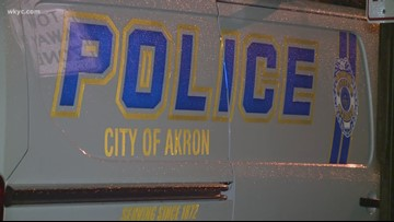 Woman shot in back protecting children from boyfriend in Akron
