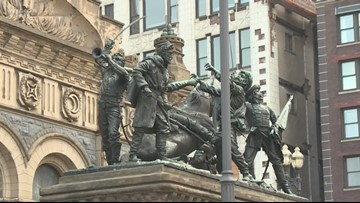Ceremony commemorates 125th anniversary of Cuyahoga County Soldiers' and Sailors' Monument
