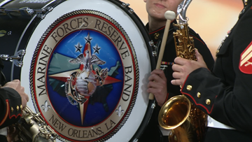 Marine Corps Brass band makes stop at WKYC ahead of major performances in Cleveland