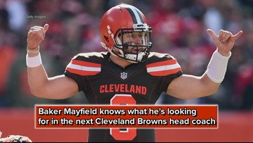 Baker Mayfield discusses what he's looking for in the next Cleveland Browns head coach