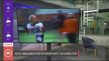 Browns RB Kareem Hunt has marijuana found in car during traffic stop, police report says