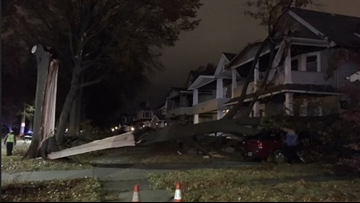 Strong winds whip through Northeast Ohio causing downed trees and power outages