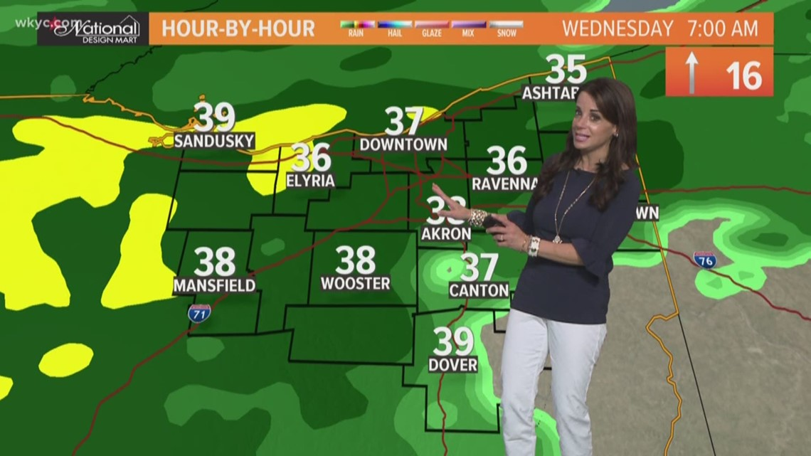 FORECAST | Rainy day ahead with warmer temperatures, but it won't last for long