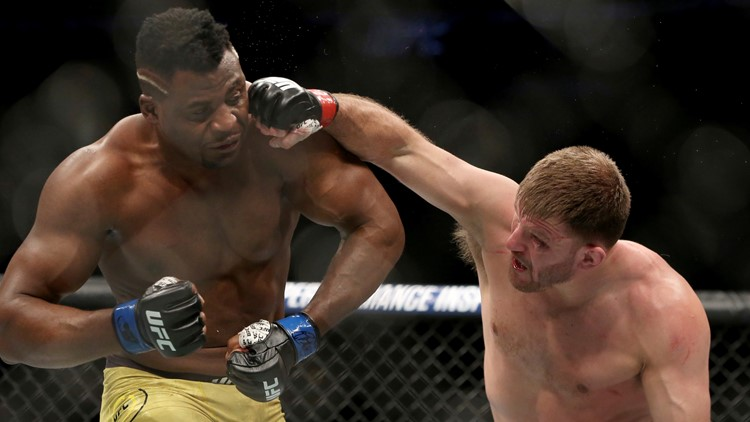 Stipe Miocic Francis Ngannou UFC 220 Mixed Martial Arts