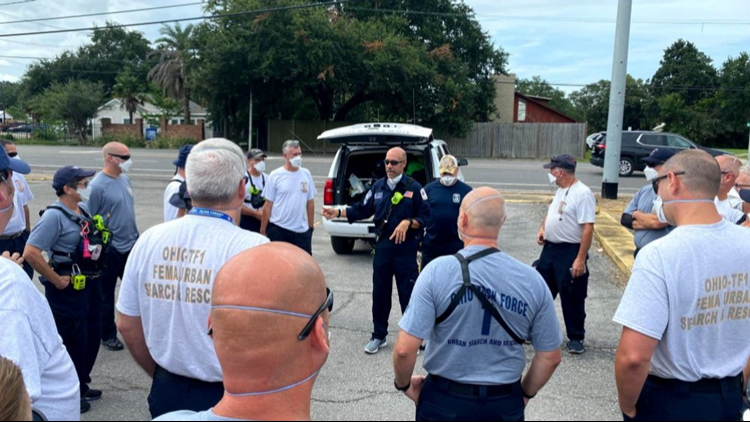 Ohio Task Force 1 moves into Baton Rouge to assist in Hurricane Ida relief