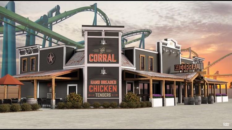 Cedar Point The Corral restaurant for 2020