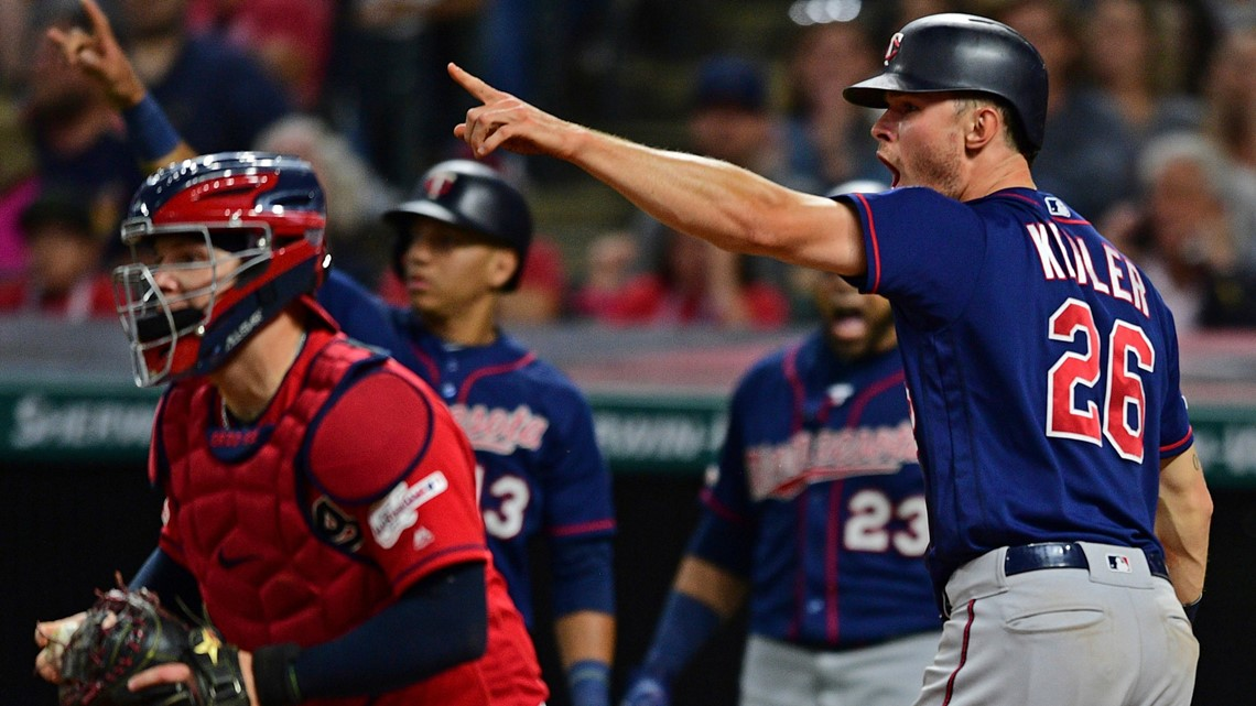 Minnesota Twins rally, slow charging Cleveland Indians 5-3 to win series opener