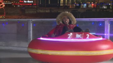 A dizzying spin on Akron's ice bumper cars at Lock 3