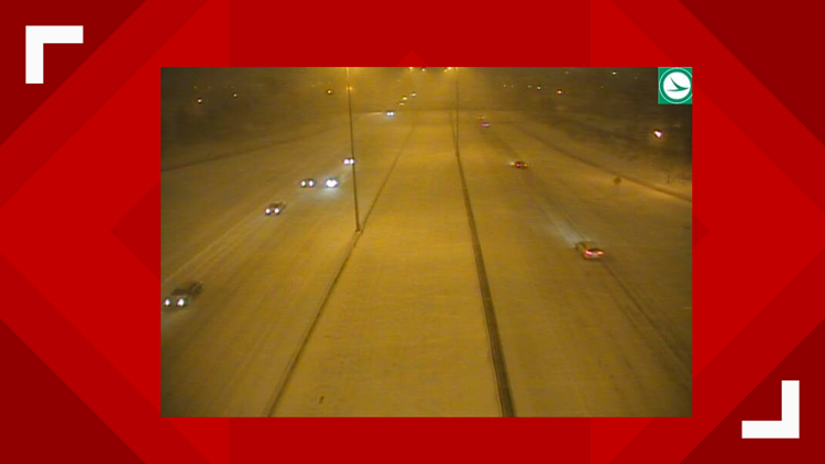 I-90 at W. 117th Street during winter storm
