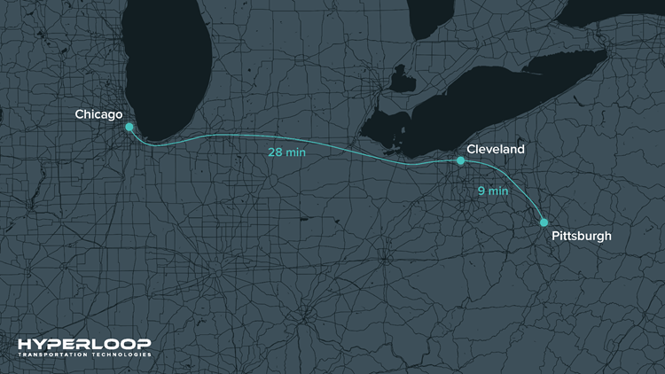 Hyperloop route
