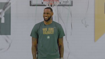 LeBron James sends I PROMISE School students on Polar Express train ride
