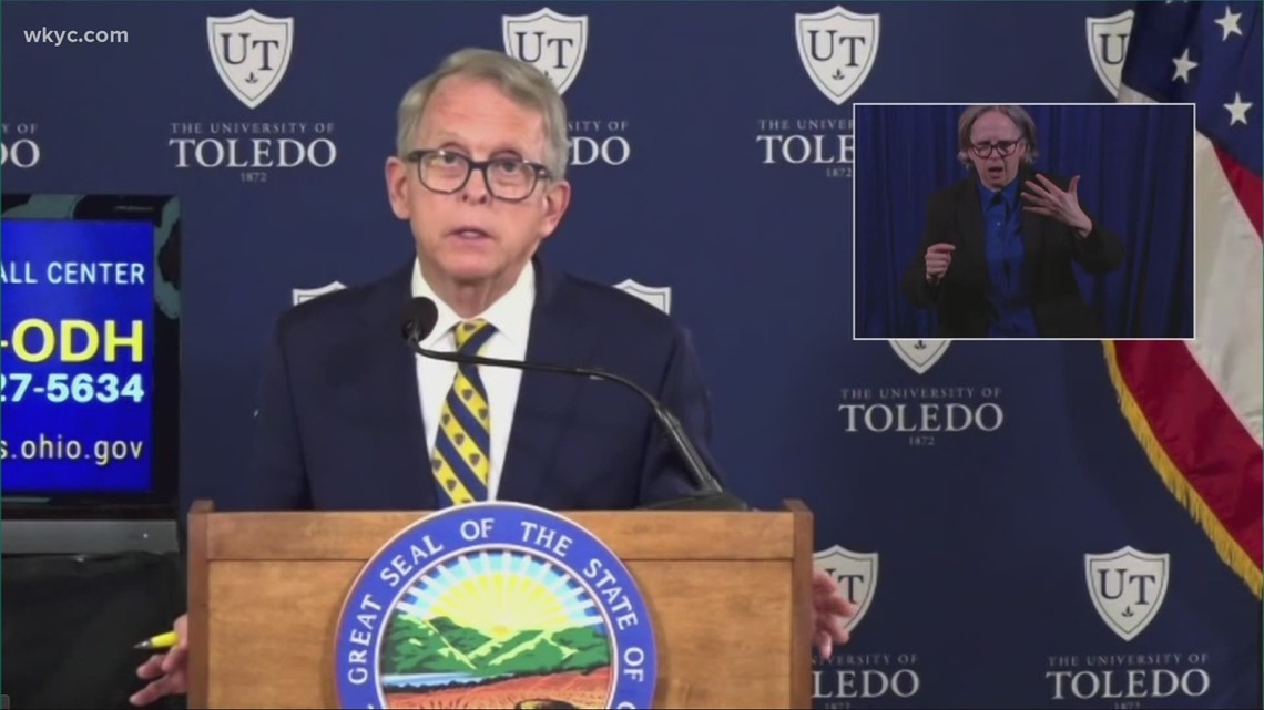 Gov. DeWine: Ohio now at 200 cases of COVID-19 per 100,000 people