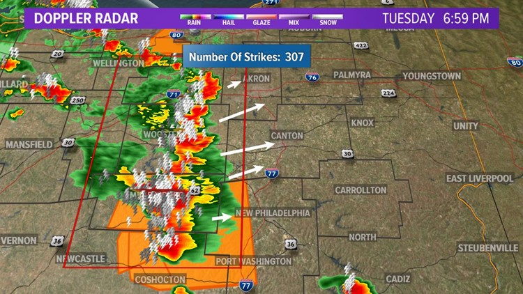 Severe thunderstorm warning issued for Carroll, Tuscarawas Counties