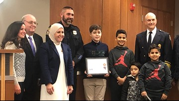 Beachwood 6th grader saves student's life, honored for heroism