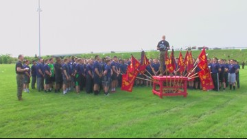 Marine recruits get a taste of boot camp in Ohio