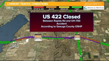 422 reopens after Geauga County crash closure