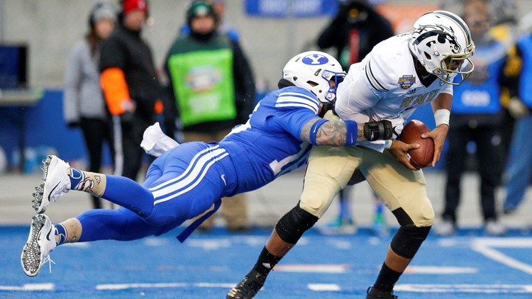 Sione Takitaki BYU vs. Western Michigan Famous Idaho Potato Bowl