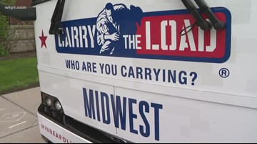 'Carry The Load' continues American flag relay from Westlake to Akron