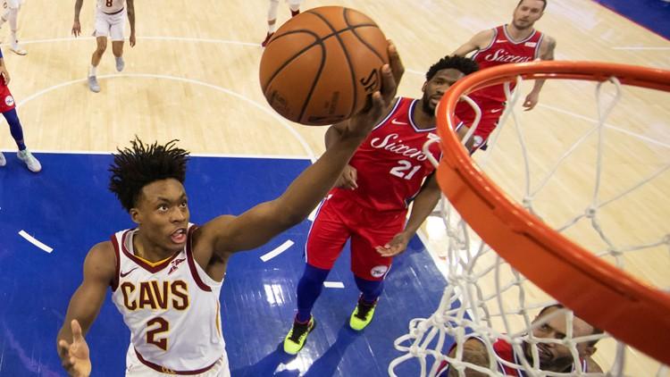 Collin Sexton Cleveland Cavaliers-Philadelphia 76ers Basketball