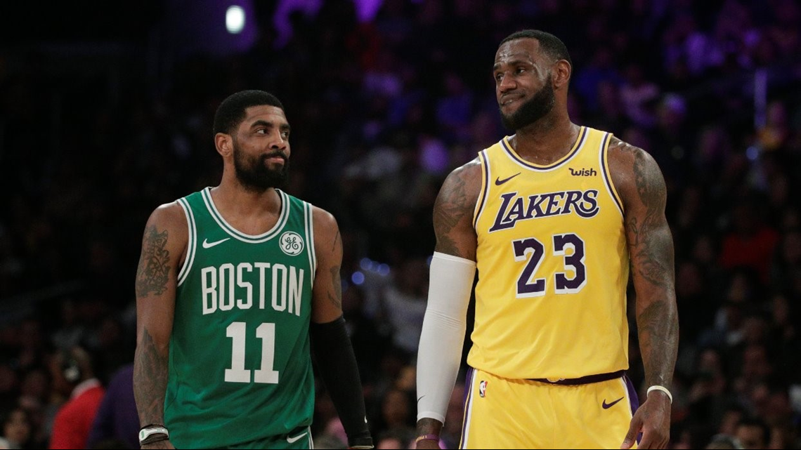 LeBron James likes Instagram picture of Kyrie Irving in a Lakers jersey; will they reunite?