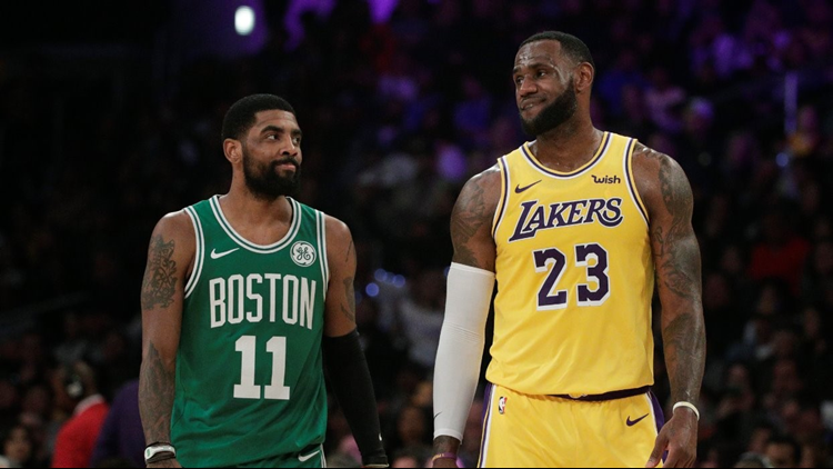 2546f5b935b LeBron James likes Instagram picture of Kyrie Irving in a Lakers jersey;  will they reunite?