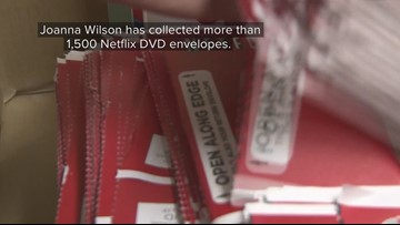 Netflix DVD collection transformed into dress