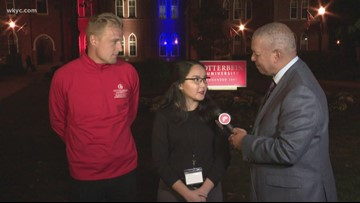 Otterbein students discuss Democratic debate with 3News' Russ Mitchell