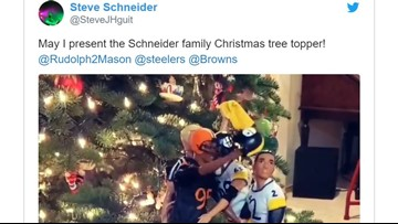 Myles Garrett tree topper brings Cleveland Browns controversy to Christmas