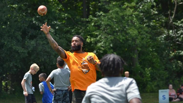 Cleveland Browns WR Odell Beckham Jr. football camp 2