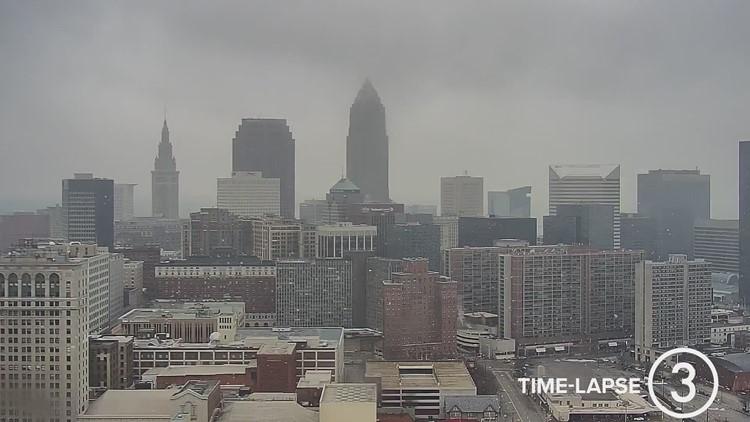 Sunday Cleveland weather time-lapse on January 17, 2021