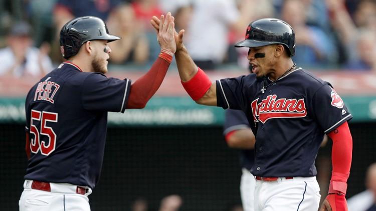Roberto Perez-Francisco Lindor Houston Astros-Cleveland Indians Baseball
