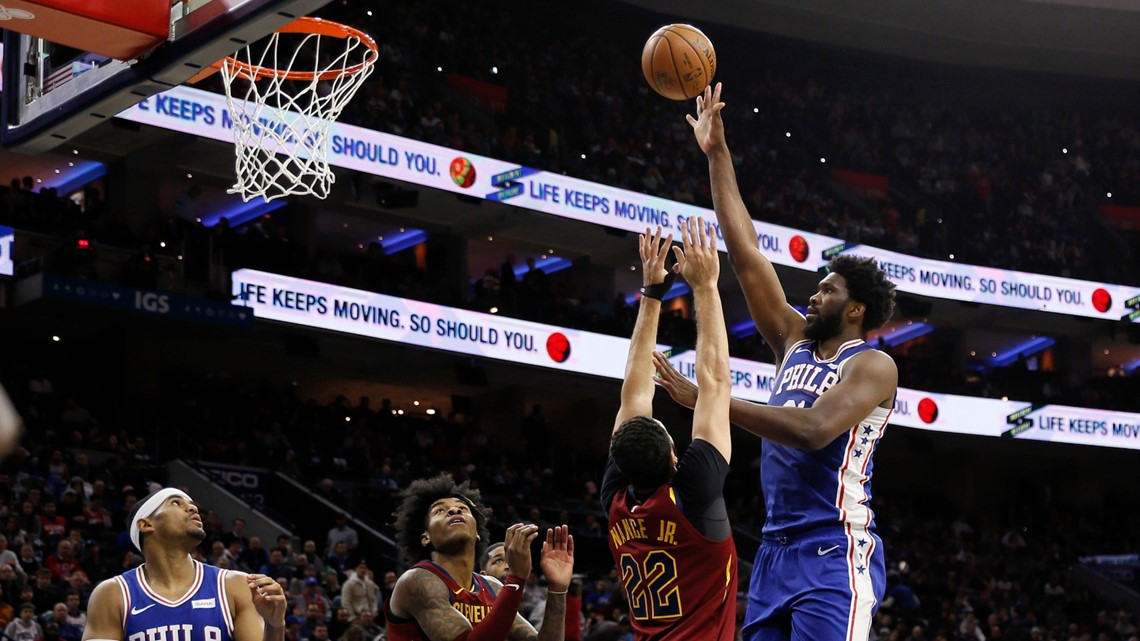 Joel Embiid scores 27, leads Philadelphia 76ers past Cleveland Cavaliers 98-97
