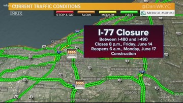 Coming to Cleveland this weekend? I-77 will be closed: See the detour