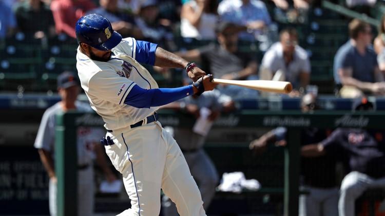 Domingo Santana Detroit Tigers-Seattle Mariners Baseball