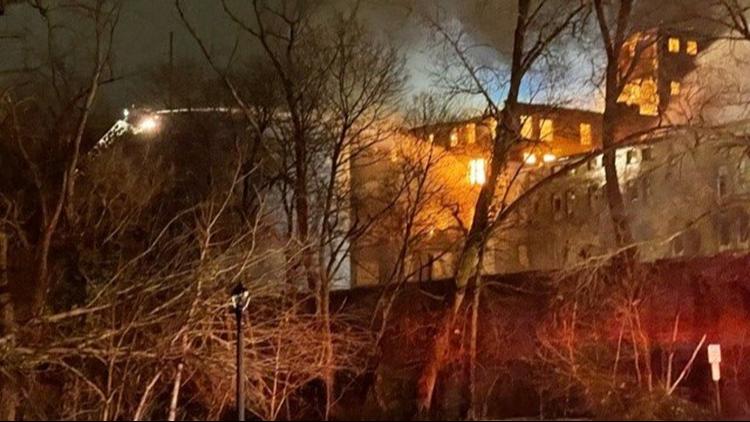 Drone video shows aftermath of Elyria's vacant Uncle Vic's building after it went up in flames
