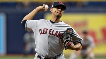 Cleveland Indians pitcher Carlos Carrasco makes 1st