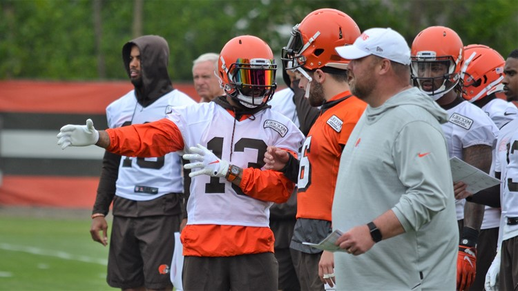 Odell Beckham Jr. Baker Mayfield Cleveland Browns Minicamp June 4, 2019