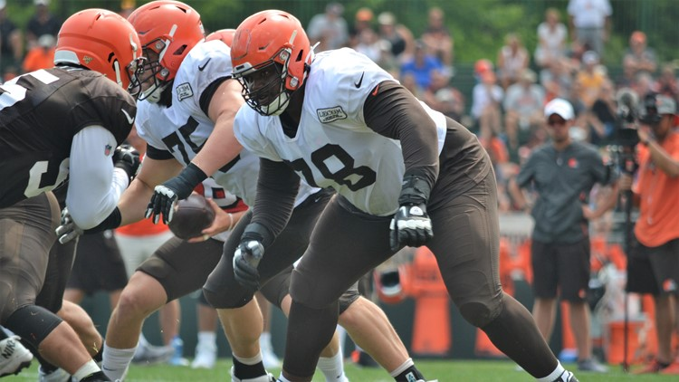 Greg Robinson Cleveland Browns Training Camp July 31, 2019