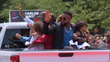 Indians All-Stars, past and present, revel in pregame parade through downtown