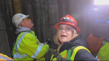Project Clean Lake gives  glimpse 200 feet down into Euclid Creek sewer tunnel