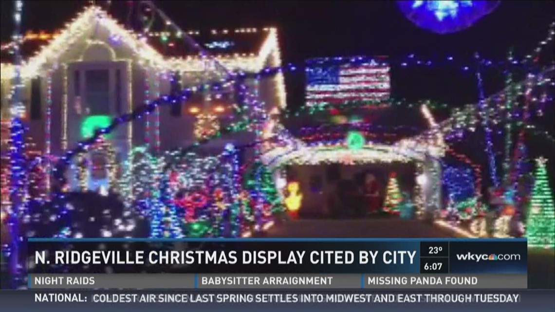 north ridgeville christmas display cited by city wkyccom