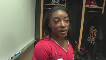 Olympian, Ohio native Simone Biles discusses 2020 games at MLB All-Star Celebrity Softball Game