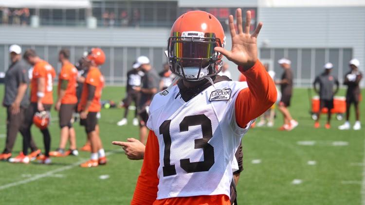 Odell Beckham Jr. Cleveland Browns Training Camp August 21, 2019
